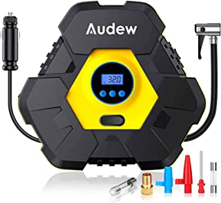 Audew Tire Inflator, Portable Digital Air Compressor Pump, 12V 150 PSI Tire Pump for Car, Truck, Bicycle, and Other Inflat...