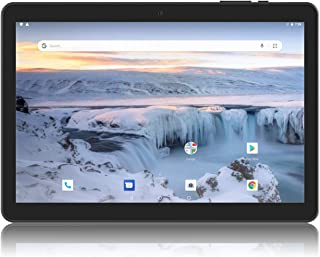Android Tablet 10 Inch, Android 8.1 Go Unlocked Tablet PC with Clear Proof-Case, SIM Card Slot, 3G Phone Support, Quad Core, 1.3GHz, 16GB, 2MP+5MP Dual Camera, WiFi, Bluetooth, GPS