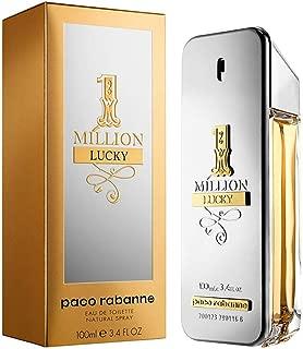 Paco Rabanne One Million Lucky Eau De Toilette Spray For Men, 3.4 Ounce