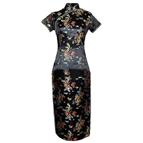 047763014af 7Fairy Women s Vtg Black Long Chinese Evening Prom Dress Cheongsam