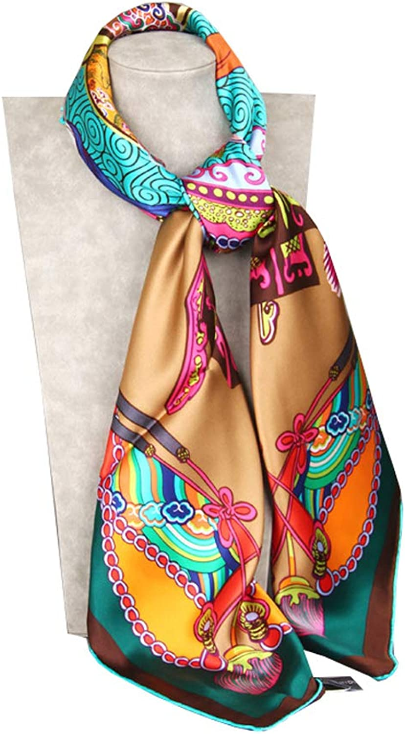 Hong Tai Yang Ms. Scarf Silk Print Large Square Scarf Shawl Silk Scarf The Most Beautiful Gift (color   C)