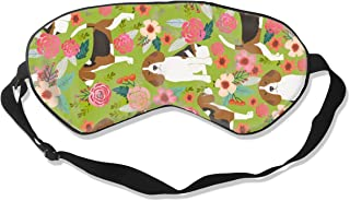 Beagle Beagles Flowers Florals Pet Cute Dogs Dog F Silk Sleep Mask Comfortable Blindfold Eye mask Adjustable for Men, Women or Kids