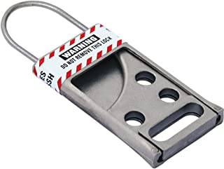 Lockout Safety Supply 7242 Stainless Steel Hasp, Silver