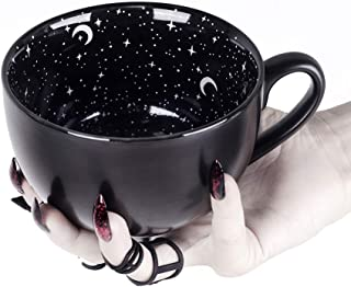 Rogue + Wolf Midnight Coffee Large Mug in Gift Box Cute Mugs for Women Unique Witch Novelty Tea Cup Goth Decor - 17.6oz 500ml Porcelain