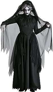 Halloween Adult Ghost Bride Queen Dress Cosplay Devil Vampire Role Play Dark Witch Costume