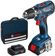 Bosch ROBERT Y/0615990G6U Bosch Taladro batería 1+1 GSR 18-2LI, 18 V