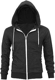 300 GSM Lightweight 100% Cotton Unisex Fashion Zip up Hoodie Fleece Jacket with Inner Phone Pocket