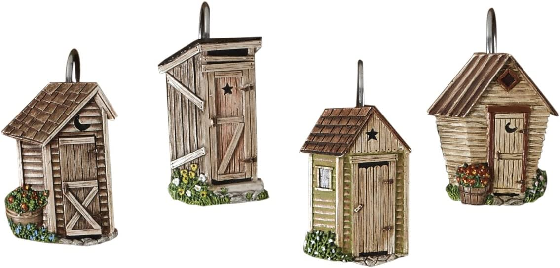 Park Attention brand Designs Outhouse Shower Set Curtain Hook Popular shop is the lowest price challenge