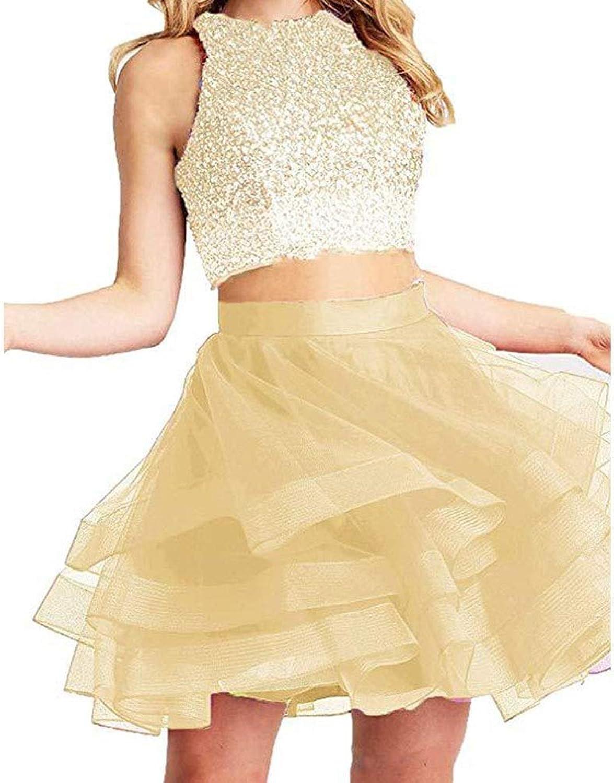 MISSKERVINFENDRIYUN Women's Fashion Beads Sexy Short Dress Ball Gown