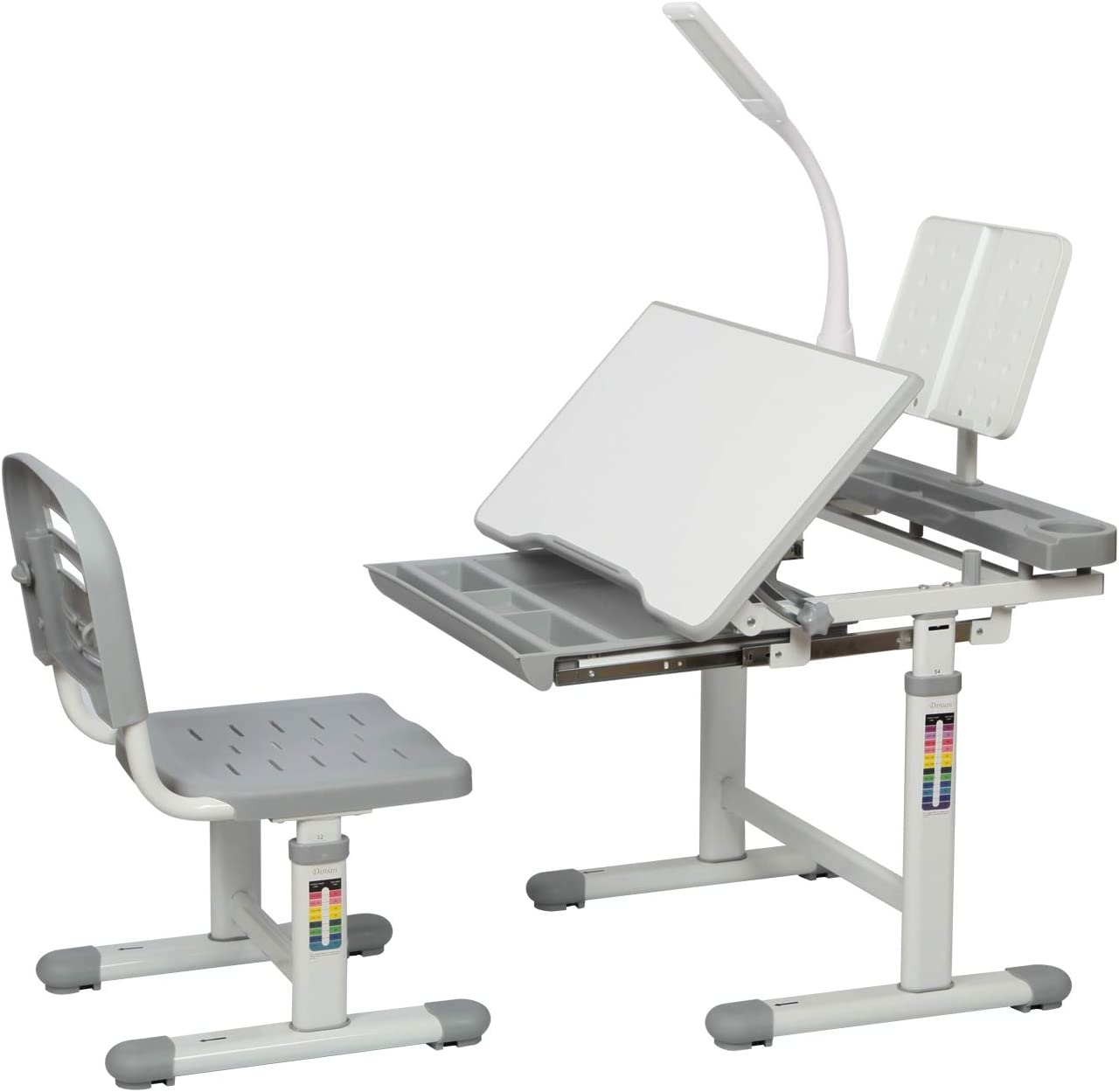 Diroan Kids Functional Desk and Height Chi Adjustable New arrival Chair free Set