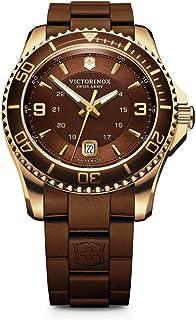 Victorinox Men's 241608 Maverick Analog Display Swiss Quartz Brown Watch
