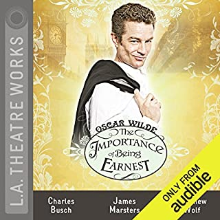 The Importance of Being Earnest (Dramatized)                   By:                                                                                                                                 Oscar Wilde                               Narrated by:                                                                                                                                 James Marsters,                                                                                        Charles Busch,                                                                                        Emily Bergl,                   and others                 Length: 1 hr and 58 mins     8 ratings     Overall 4.5