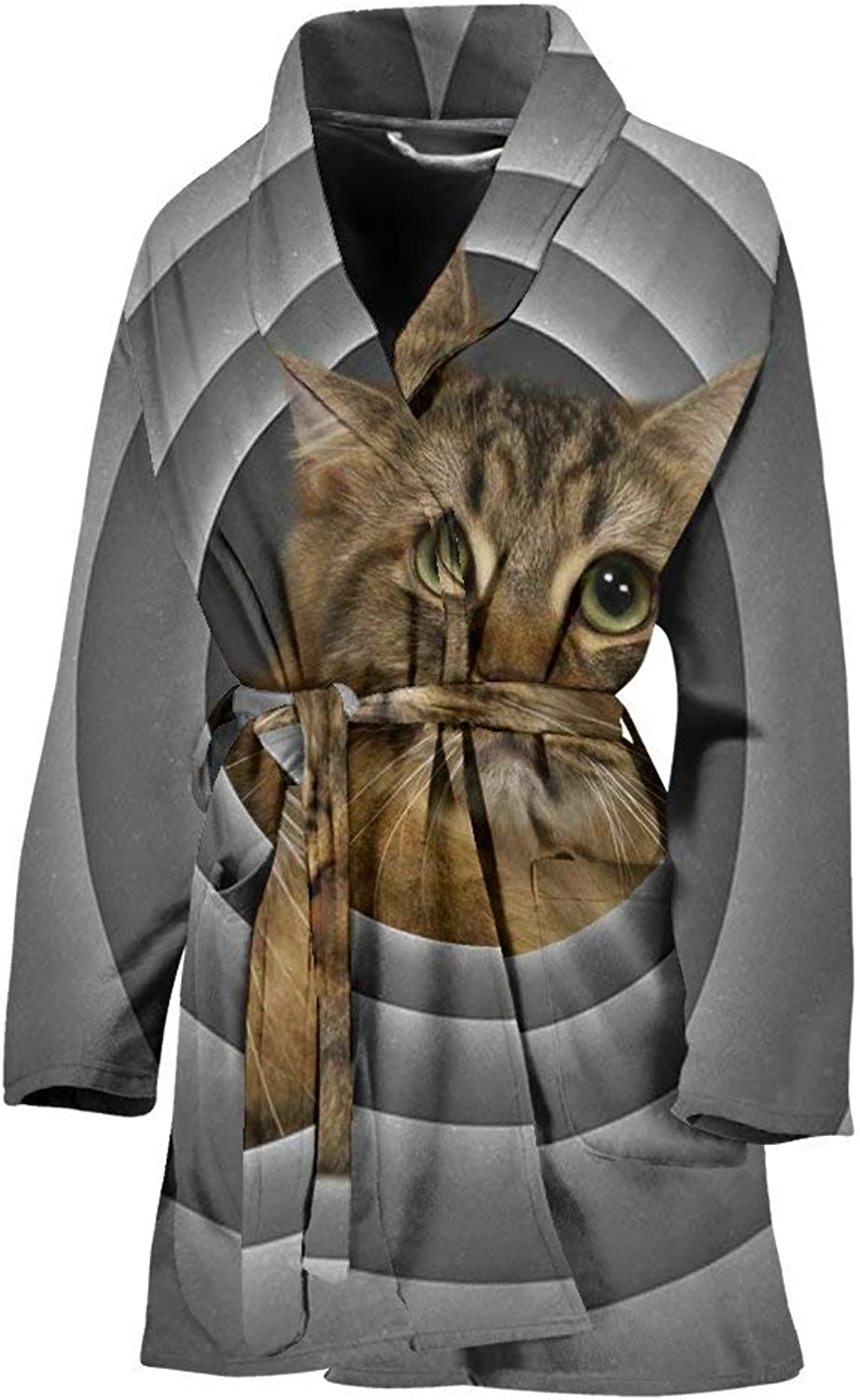 American Bobtail Cat Print Women's Bath Robe