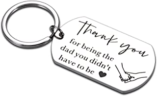 Step Dad Gifts Keychain for Stepdad Fathers Day Birthday Christmas Valentines Gifts for Stepfather Gift Ideas from Daughte...
