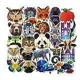 DADATU Aufkleber 35 Stück Geometrie Galaxy Animal Stickers Baby Kids Toys Graffiti-Decals DIY...