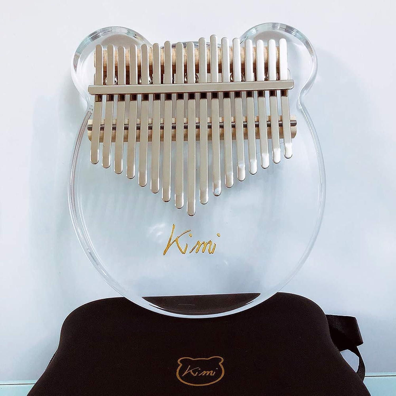 DSstyles Kimi Kalimba Acrylic Thumb Piano 17 Keys with Tuner Hammer Gig Bag