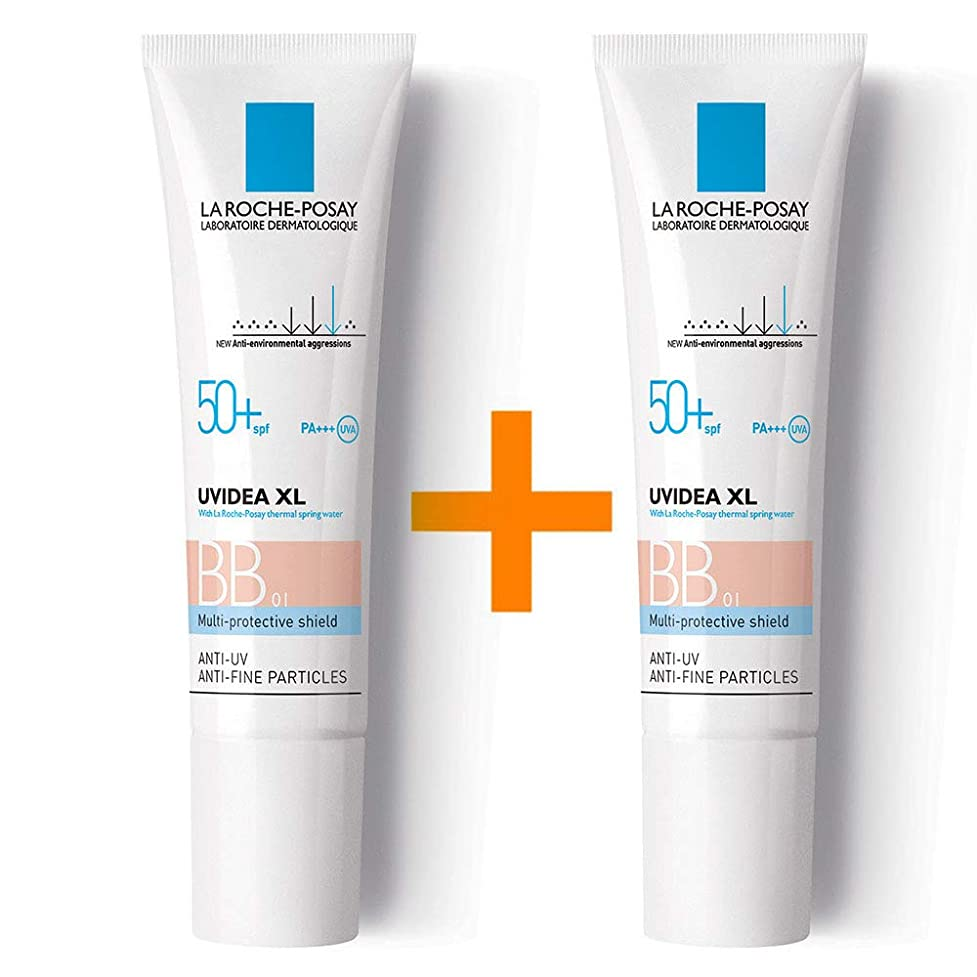 頭痛信頼できる計算する[ 1 + 1 ] La Roche-Posay ラロッシュポゼ UVイデア XL プロテクションBB(01ライト) Uvidea XL BB Cream - #01 (30ml) SPF50+ PA++++ フランス日焼け止め