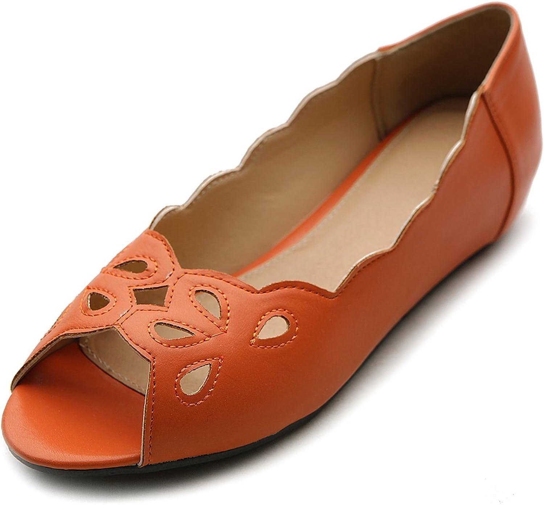 Ollio Women's Ballet shoes Cut-Out Open-Toe Multi color Flat