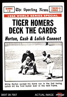 1969 Topps # 163 1968 World Series - Game #2 - Tiger Homers Deck The Cards Willie Horton/Tim McCarver St. Louis/Detroit Cardinals/Tigers (Baseball Card) Dean's Cards 4 - VG/EX Cardinals/Tigers