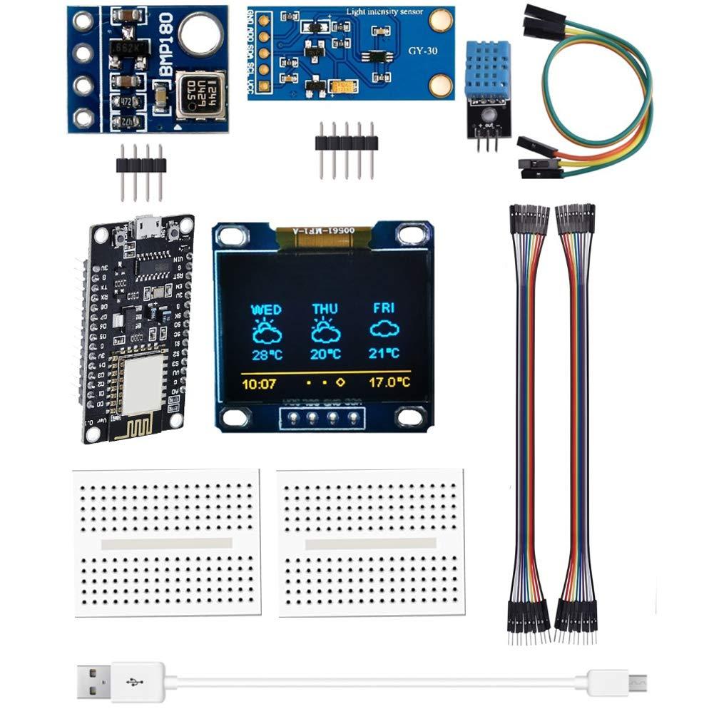 Kit de módulo de estación meteorológica ESP8266 con sensor de presión atmosférica de temperatura y humedad