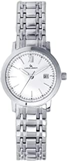 Louis Arden Watch For Women, Stainless Steel-LA5002L-SV -WHT-SV