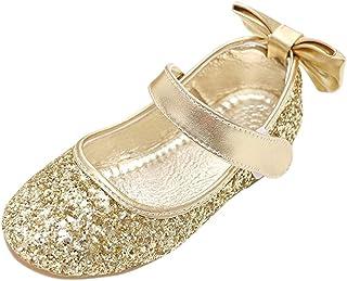 f592c0bad13 fereshte Little Girl s Mary Jane Buckle Strap Paillette Ballerina Flats  Cute Sequin Ballet Dress Shoes (