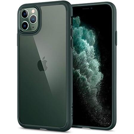 Spigen iPhone 11 Pro ケース 5.8インチ 対応 背面 クリア 米軍MIL規格取得 耐衝撃 カメラ保護 衝撃吸収 Qi充電 ワイヤレス充電 ウルトラ・ハイブリッド ACS00417 (ミッドナイト・グリーン)