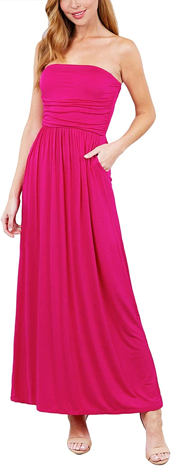 FashionMille Women Popular Strapless Max 88% Popular brand OFF Tube Long Maxi with Dress P