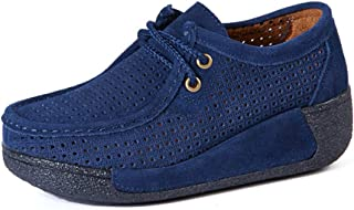 Unparalleled beauty Women's Fashion Lace-Up Flatform Driving Shoes