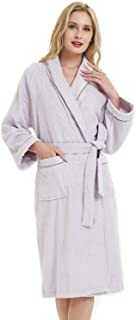 SANLI Terry Cotton Cloth Bathrobe, Soft, Thick, Knee Length Short, Bath Shower Spa Robes for Women