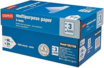 Staples Multi-Purpose Paper; 8-1/2x11; Letter Size; 3 Hole Punch