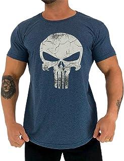 Camiseta Masculina LongLine MXD Conceito Slim Justiceiro The Punisher
