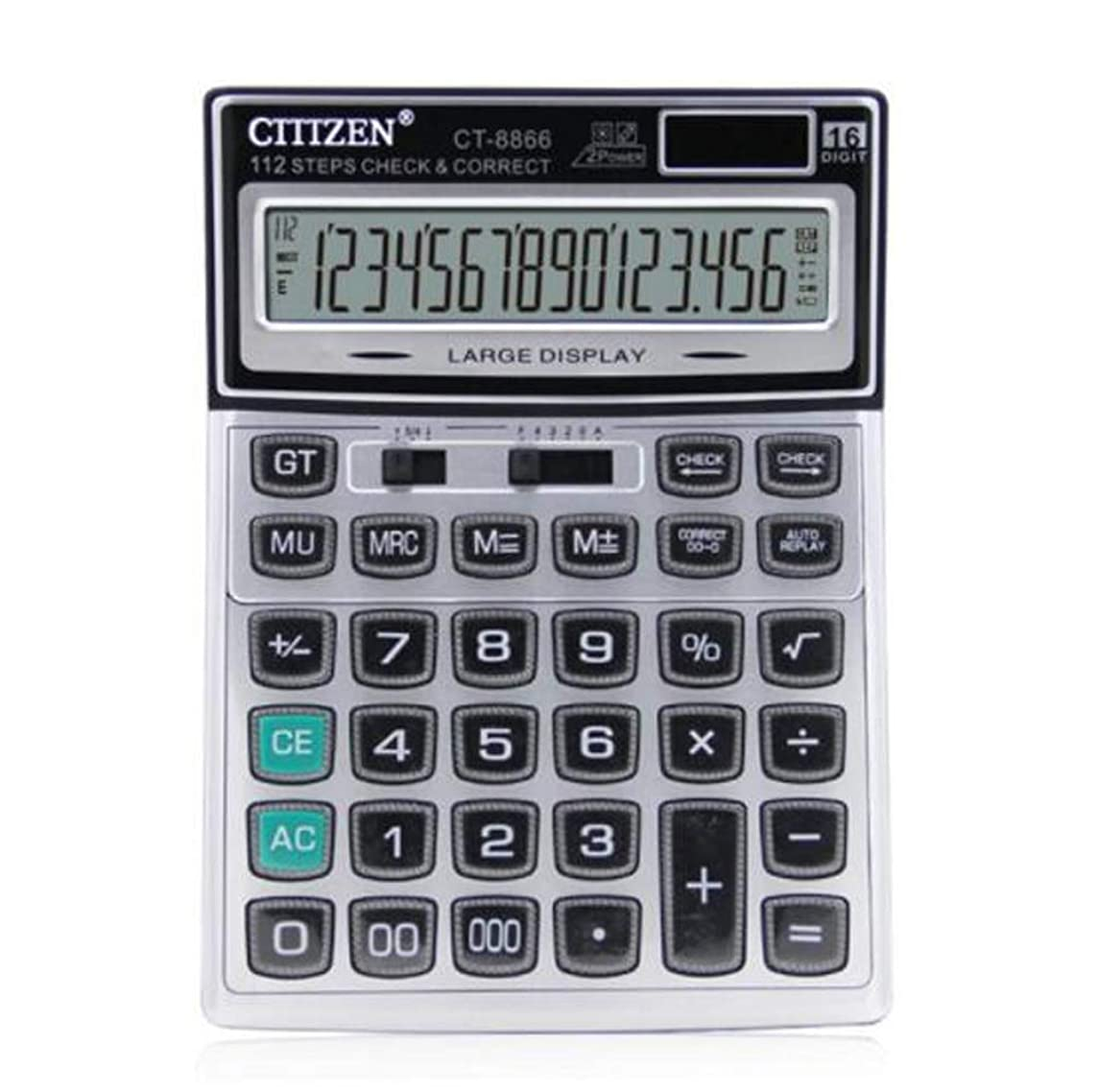 有益な叱る巧みなCarmen ミニデスクトップ電卓 クリスタルボタン付き 16ビットディスプレイ 大きなオフィス用品