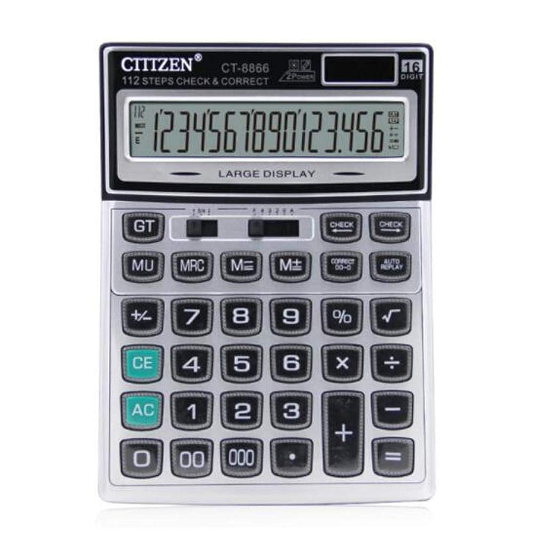 ぺディカブ垂直人生を作るCarmen ミニデスクトップ電卓 クリスタルボタン付き 16ビットディスプレイ 大きなオフィス用品