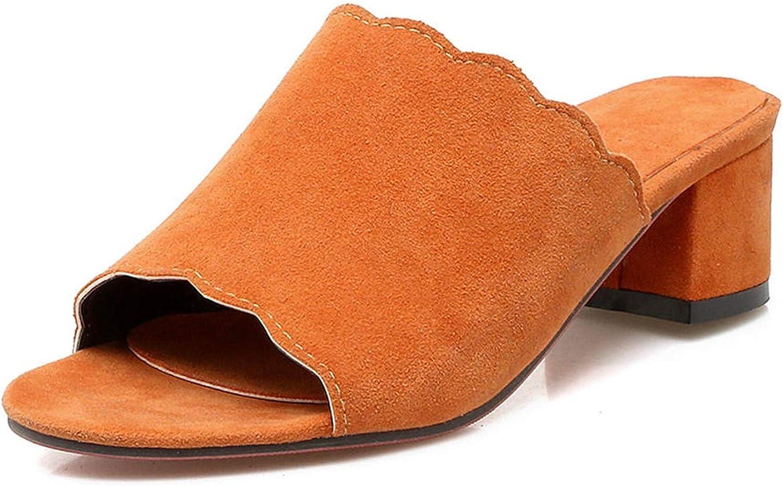 Summer-lavender Casual Flock Mules Ladies Slip-on Elegant Flock Pumps Women 34-43 Med Heels shoes Woman for Leisure