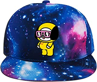 Kpop BTS Bangtan Boys Twice Blackpink Unisex Galaxy Snapback Hat Adjustable Flat Bill Baseball Cap