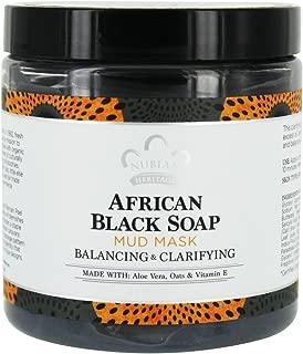 Nubian Heritage - African Black Soap Facial Mud Mask Balancing & Clarifying - 6 fl. oz.
