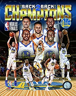 Golden State Warriors 2018 NBA Finals Champions Back To Back. Stephen Curry & Kevin Durant Team Collage. 8x10 Photo Picture (coll)