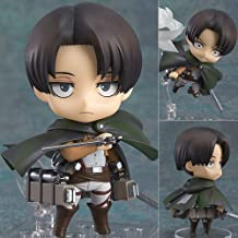 Cute and Attractive PVC 2Styles Nendoroid Attack on Titan Legion Levi Rivaille Action Figure- Collectible Toys for Boys (Style A)