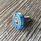 Kurbelschrauben farbig mit Alukappe Vierkant Innenlager MTB/Road Tuning Caps Axle Bolts -