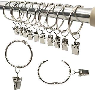 3.5x3x2.2cm HomeDecTime 4pcs Embout de Rideau Tringle /à Rideaux Support de Fixation en Fer Pinces /à Rideaux Cylindre Blanc