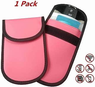 Keyfob RFID Signal Blocking Bag Faraday Cage, Key Fob Guard Protector Device Shielding, Anti-Hacking Assurance for Wireless Car Keys, KeyFOBs, Car Key Remotes, Credit Card Protection(Pink)
