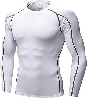 comprar comparacion Shengwan Camiseta de Compresión de Manga Larga Hombre Deportiva Fitness Gimnasio Tops T-Shirts Térmica