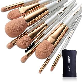 Makeup Brush Set 10Pcs Vegan Makeup Brush Set High-tech Nanometer Fiber Foundation Brush Travel Brush Concealer Cosmetic Eyeshadow Brush Sets (Vegan 10pcs RoseGold)