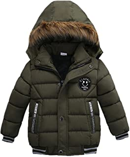 Toddler Baby Boys Autumn Winter Down Jacket Coat Warm Padded Thick Outerwear Clothes