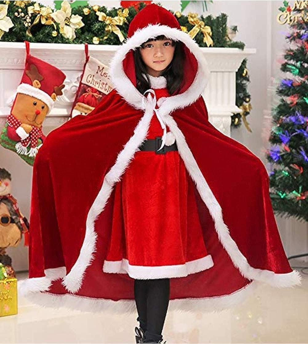Details about  /Women Christmas Cape Cloak Santa Claus Cloak Ladies   Xmas Dress Costume Cape