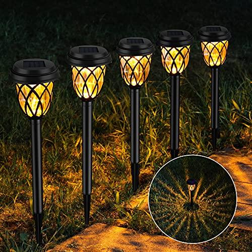 8 Pack Solar Pathway Lights Outdoor, Waterproof Solar Garden Lights, Landscape Lights/Decorative Lighting for Pathways, Garden, Lawn, Deck, Patio