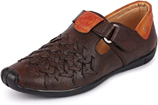 FAUSTO Men's Shoe Style Fishermen Sandals