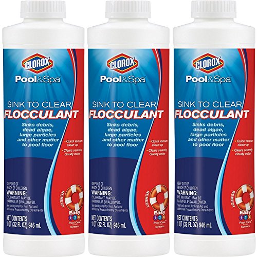 Great Deal! Clorox Pool&Spa Sink to Clear Flocculant, 32 oz, 3PACK
