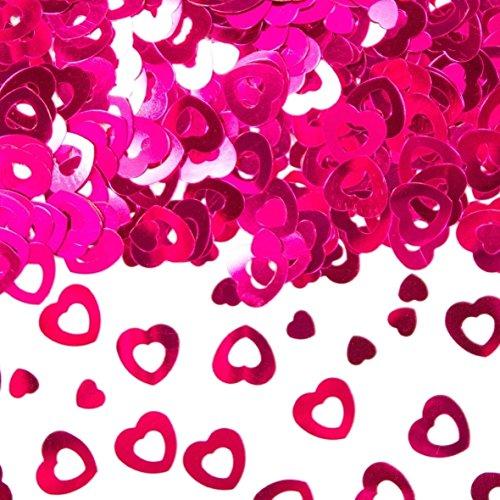 Folat 15g Konfetti Herzen Rosa Geburtstag Tischdeko Jubiläum